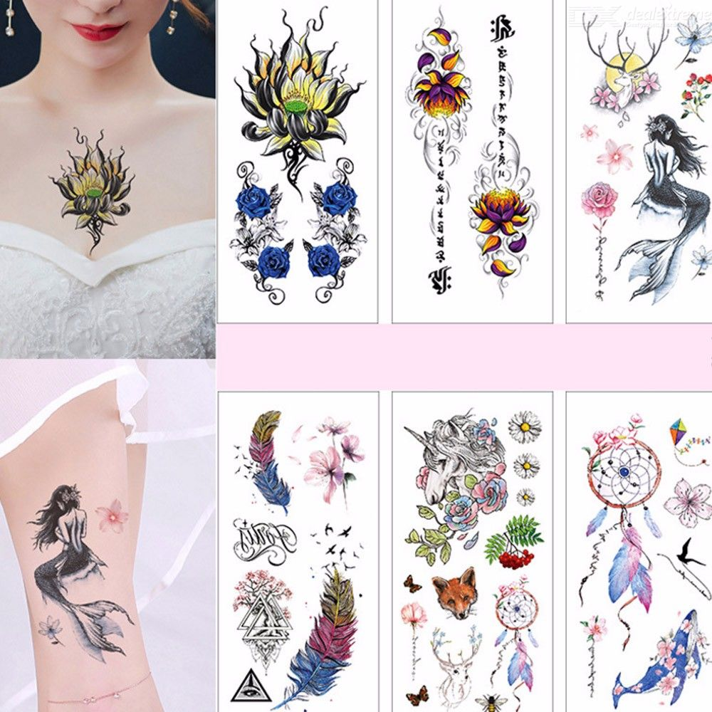 Henna Tattoo In Johannesburg: 3D Flower Temporary Tattoos Floral