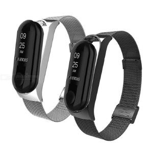 Magnetic Stainless Steel Watch Band Replacement Wrist Strap for Xiaomi Band 4