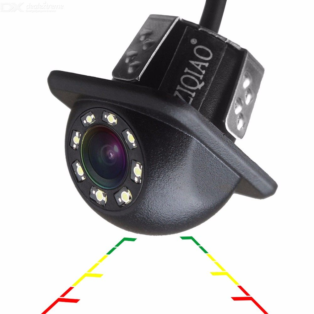 ZIQIAO ZHS-B002 Car Rear View Camera, Universal Backup Parking Camera with 8-LED Night Vision