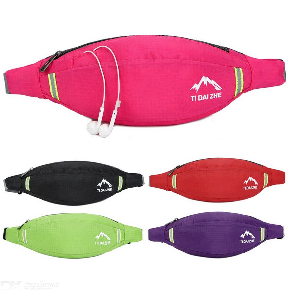 Fanny Pack Slim Soft Polyster Water Resistant Waist Bag Pack For Man Women
