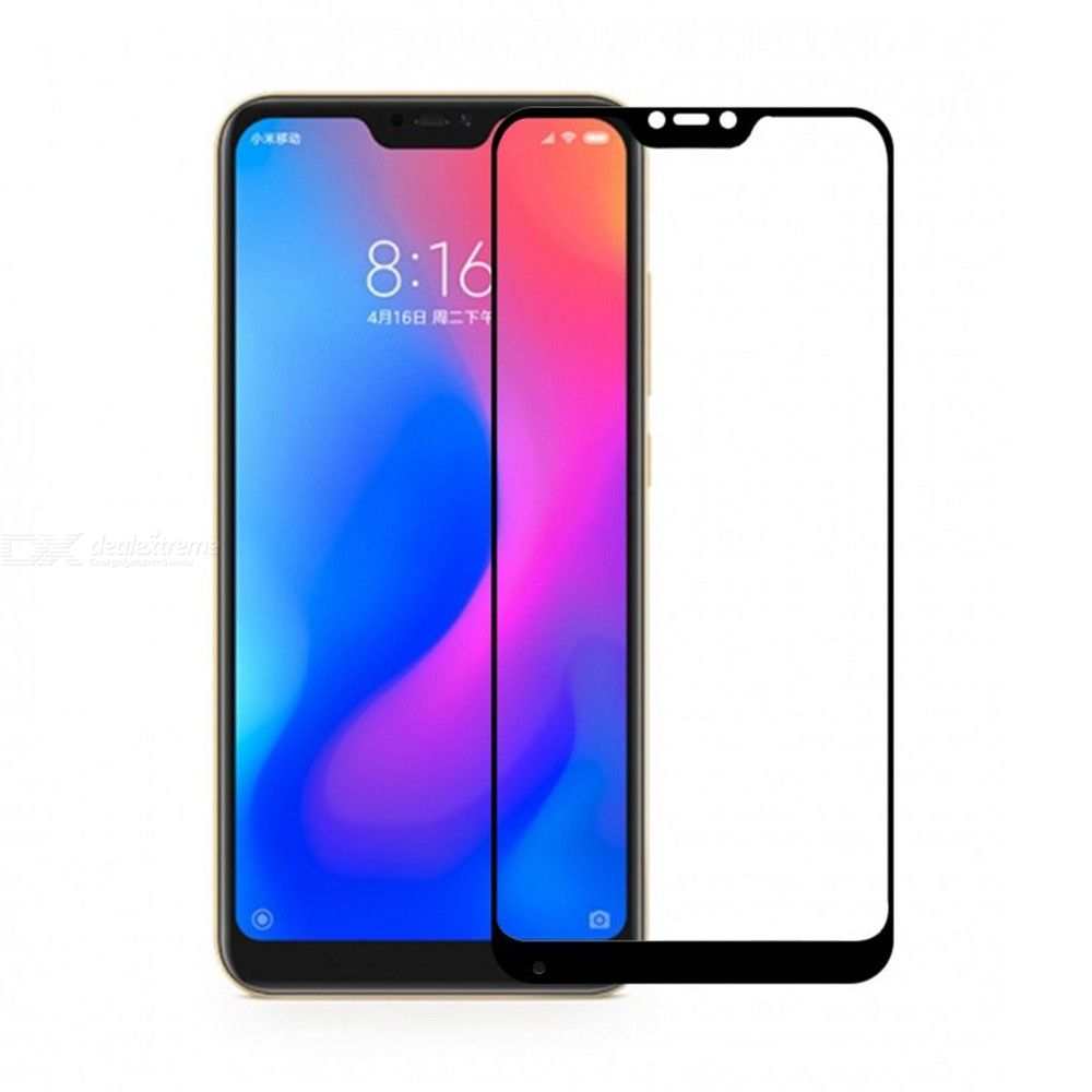 QULLOO 2.5D 9H Tempered Glass Screen Protector for Xiaomi Redmi Note 6 Pro Full CoverUltra-thinScratch Resistant