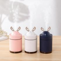 Mini-USB-Rechargeable-Cute-Deer-Humidifier-With-260ml-Water-Tank-Auto-Shut-Off-And-Colorful-Night-Light
