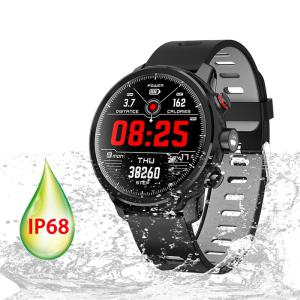 Touchable Screen Smart Watch IP68 Waterproof Sports Bracelet Heart Rate Tracker For Android IOS
