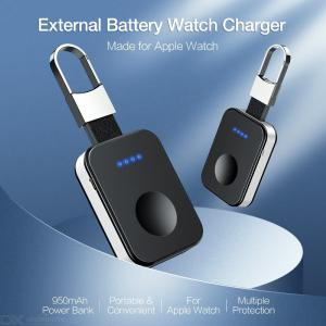 Wireless Charger For Apple Watch 4 3 2 1, 950mAh Power Bank Fast Charger Qi Wireless Charging For iWatch