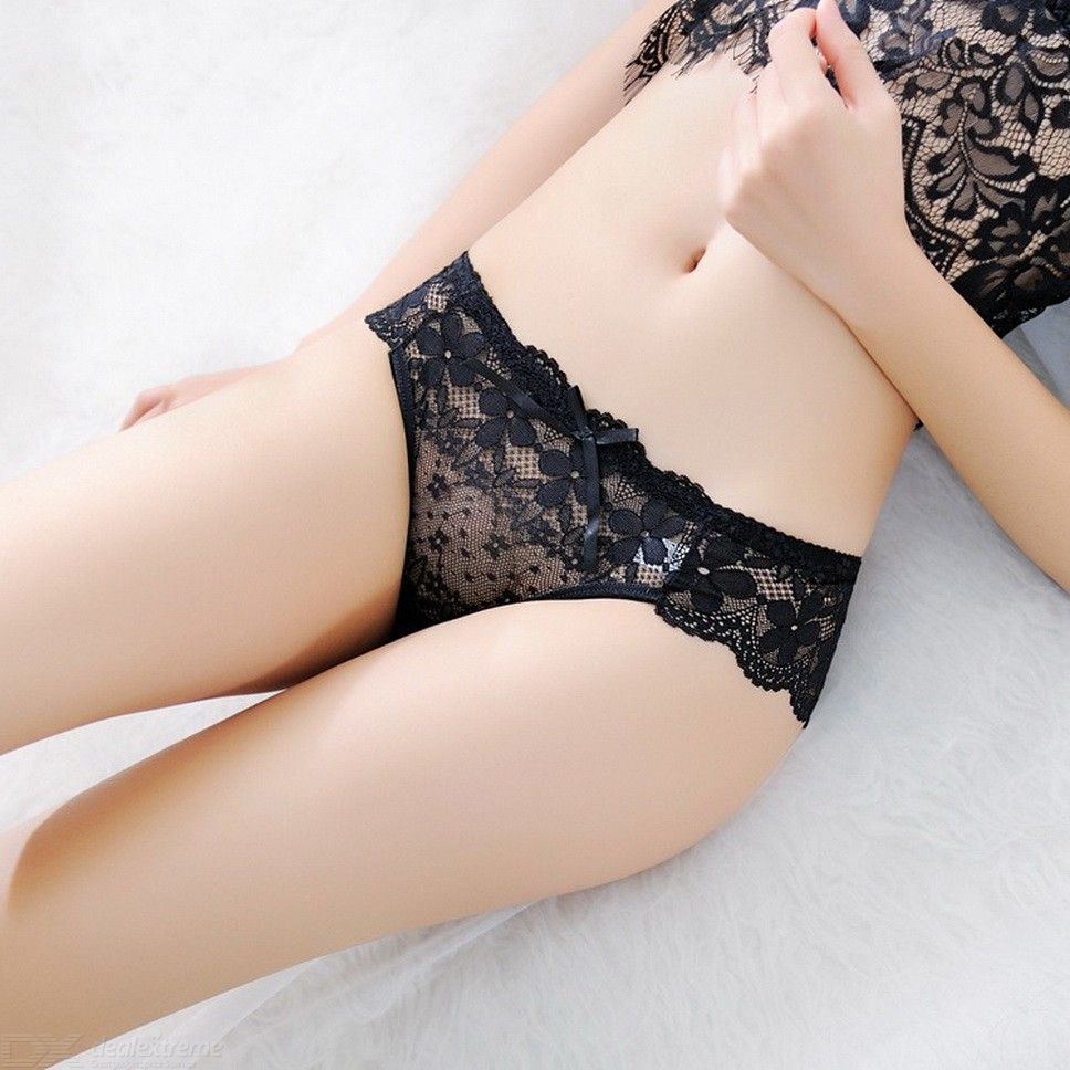 Womens Sexy Lace Underwear Breathable Hollow-out Panties