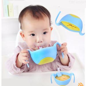 3-in-1 Non-Spilling Baby Bowl Snack Cup With Lid Straw Snack Insert