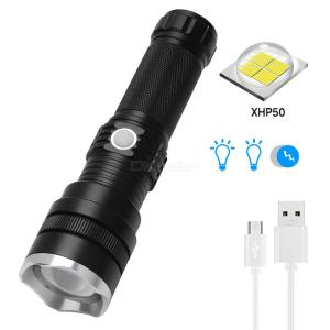 Super Bright 1800LM Mini Zooming LED Flashlight 3 Modes USB Rechargeable Waterproof Torch