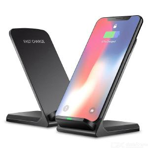 10W Qi Wireless Charger Fast Charging Phone Stand for iPhone 8XXRXS, Sumsung Galaxy S10 Note 9 - Black