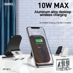 REMAX RP-W12 10W Wireless Charger CE-Certificated Fast Charging Desktop Phone Stand For IPhone 8XXrXs Sumsung Galaxy S10 S9