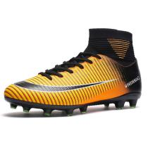 Mens-Soccer-Cleats-Shoes-Football-Boots-Cleats-High-top-Shock-Buffer-Outdoor