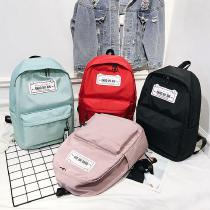 Fashion-Casual-Solid-Color-Backpack-All-match-Large-Capacity-Schoolbag-For-Students