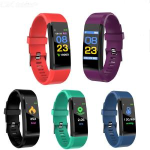 Fitness Tracker Bluetooth Smart Bracelet Activity Tracker with Touch Screen Heart Rate Sleep Blood Pressure Monitor