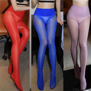 Ultra Thin Sexy 360 Degree 8D Flash Oil Bright Shaping Stockings Tights Womens Sheer Reflective Shiny Silk Pantyhose