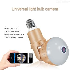 DP3 Wireless LED Light Bulb Camera Panoramic 360 Degree 1080P WiFi HD Night Vision Surveillance Cameras With E27 Standard Base