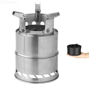 Portable Folding Wood Stove Stainless Steel Firewood Stoves For Outdoor Camping Picnic