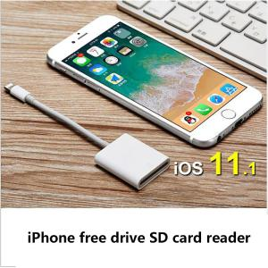 SD Card Reader, Digital Camera Reader Adapter Compatible With IPhoneiPad Support IOS 11.1 And Before, No App Required - White