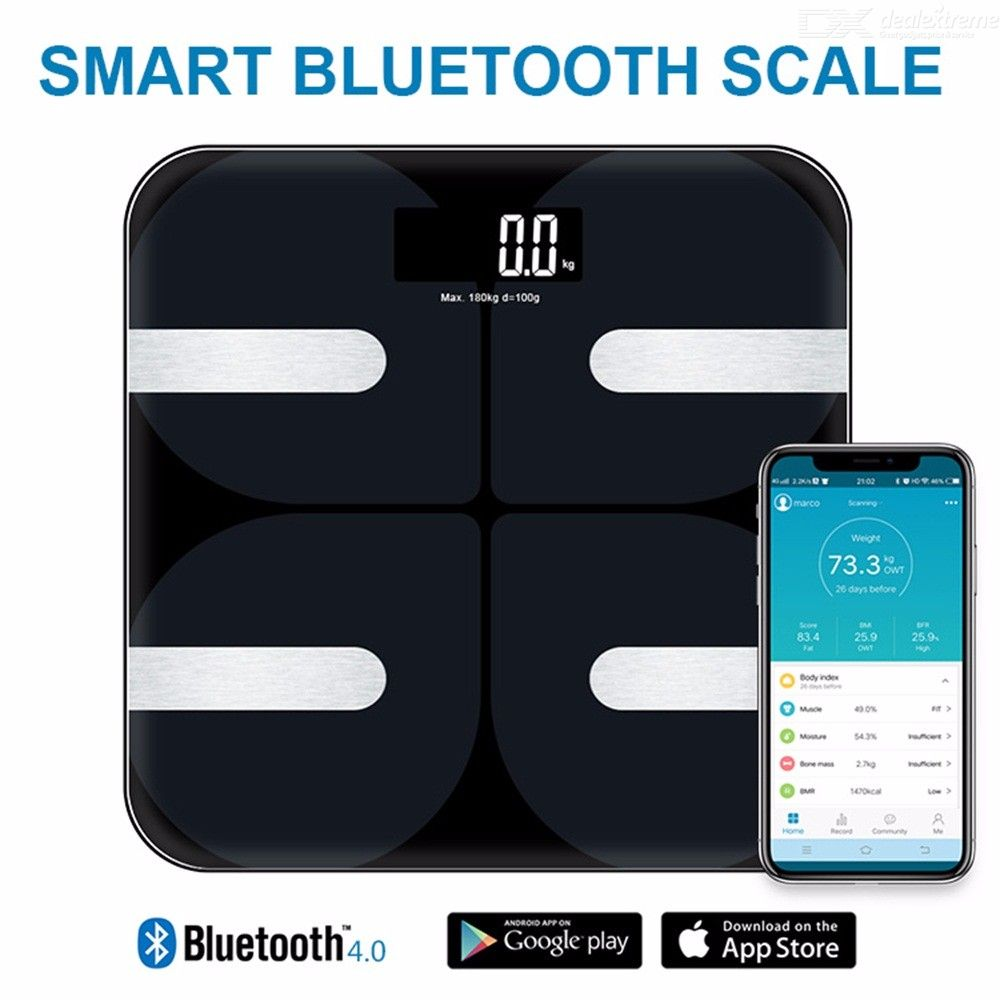 F13 Electronic Smart Bluetooth APP Connection Body Fat BMI Weighing Scale Digital Human Weight Balance For Family