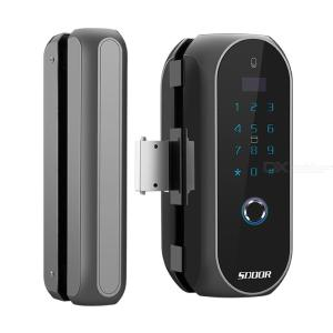 Glass Door Smart Fingerprint Password Lock Remote Semiconductor Lock For Access Control System