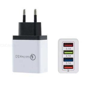 Universal 5V 3A Smart QC3.0 Multi-Port 4 USB Power Adapter Travel Charger For Phone Tablet PC
