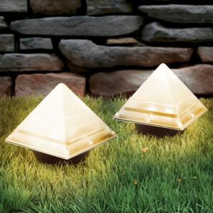 2PCS Creative Pyramid Shaped Underground Buried Light Energy Saving Ground Lamp For Outdoor Garden Lawn