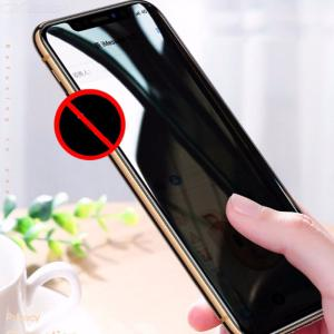 Privacy Screen Protector For IPhone XR  Xs  Xs Max  Anti-Spy 9H Hardness Tempered Glass Film Full Coverage Super Clear