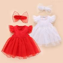Baby-Casual-Elastic-Princess-Dress-Sleeveless-A-line-Ruffle-Dress-With-Hairbands-For-Girls-0-12-Months