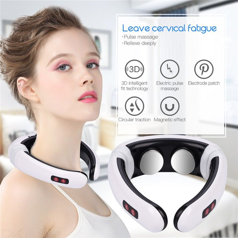 Electric Pulse Massager TENS Neck Back Massaging Unit With 6 Modes 10 Intensity Settings