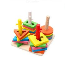 Colorful-Wooden-Four-Column-Building-Blocks-Geometric-Matching-Stacker-Early-Childhood-Educational-Toy-For-Kids