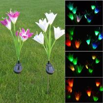 2PCS-Solar-LED-Lotus-Lawn-Light-7-Color-Changing-Pathway-Lamp