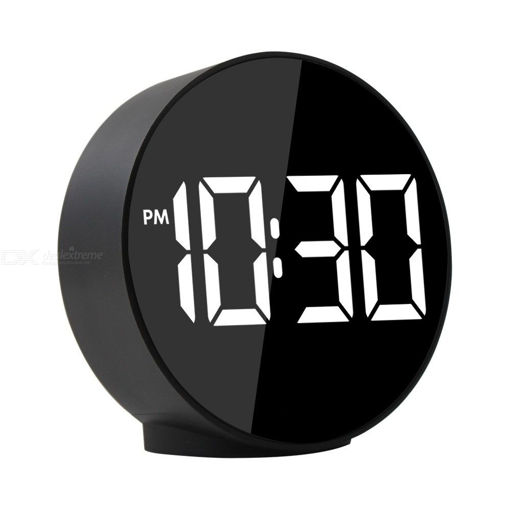 Electronic Digital LED Alarm Clocks Voice Control Temperature Detection Night Mode Table Clock