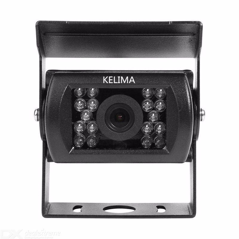 KELIMA 6988 Car Reversing Camera AV Port Universal 18 IR Night Vision Waterproof Bus Rearview Camera Vehicle Cam - Black