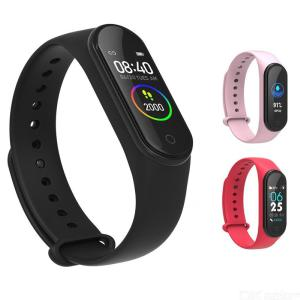 M4A Color Screen Smart Bracelet Heart Rate Blood Pressure Monitor Intelligent Fitness Tracker For Adults