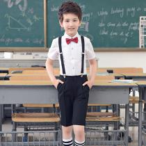Boys-Gentleman-Outfits-Suits-Short-Sleeve-Shirt-With-Bow-Tie-And-Overalls-Pants-Uniform-Pants-For-School-Birthday-More