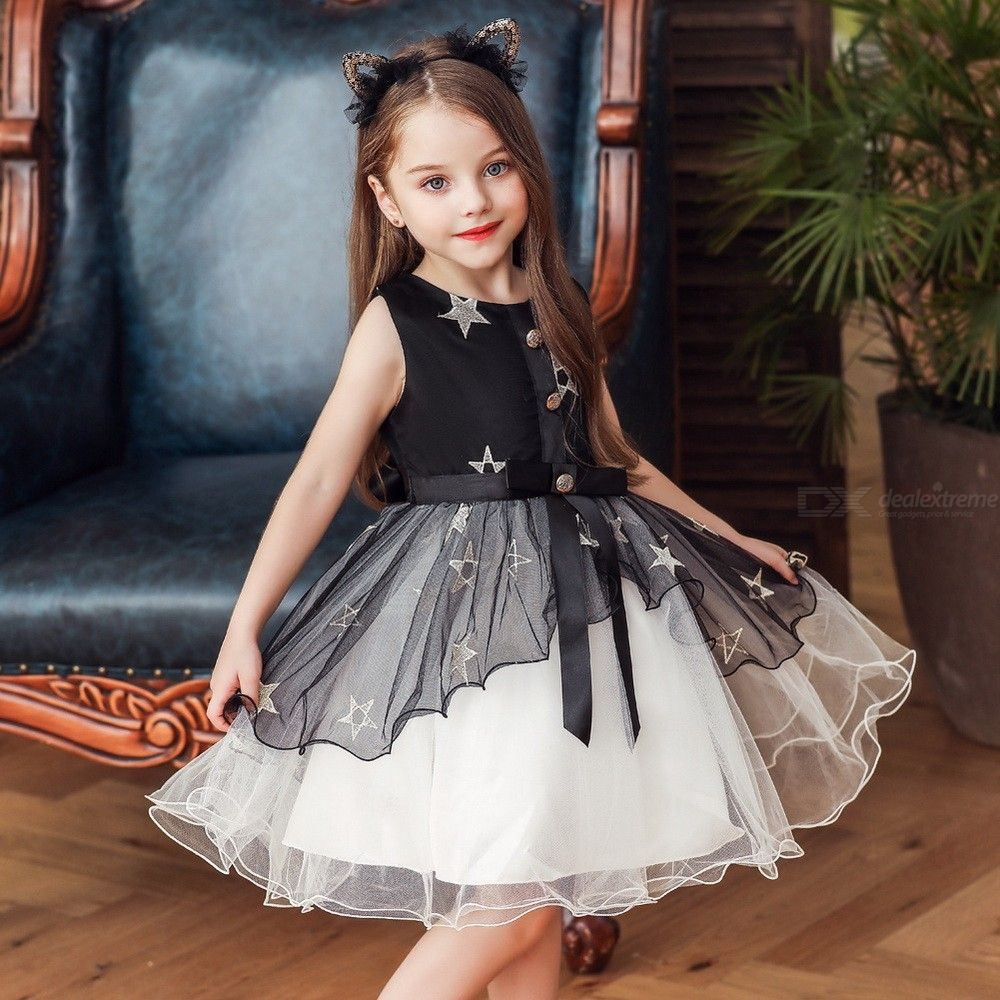 4e45c2cce6 Girl's Formal Dress Wedding Princess Dresses With Exquisite Star Embroidery  Halloween Cosplay Costume