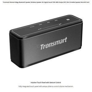 Tronsmart Element Mega Bluetooth 4.2 Wireless Speakers Digital Sound TWS 40W Output NFC Portable Speaker Micro SD Card