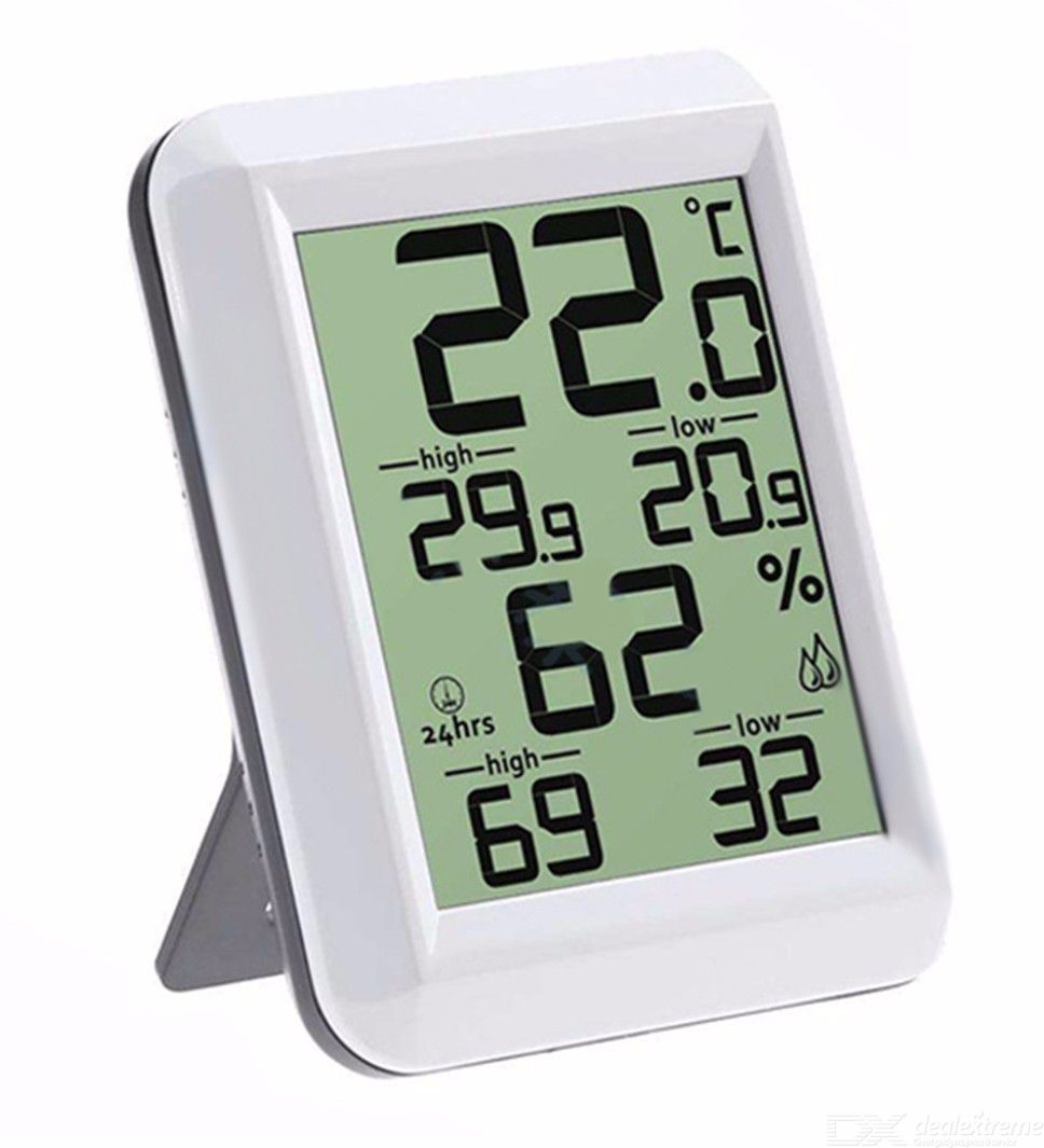 Thermometer | Digital | Indoor | Clock | Stand
