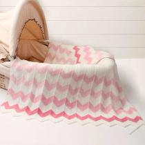 New-Born-Infant-Sleeping-Bags-Baby-Girls-Knitting-Blanket-Geometric-Wave-Gradient-Blankets-Sleepers
