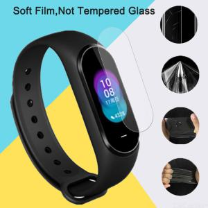 2pcs Full Cover Screen Protector Glass For Xiaomi Mi Band 4 Screen Protective Film