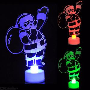 New Fashion Snowman Multi Color LED Light Clear Acrylic Mood Night Lamp Christmas Decoration