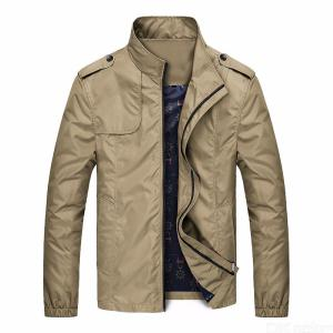 Bomber Solid Jackets Men Casual Spring Sportswear Motorcycle Stand Collar Coats