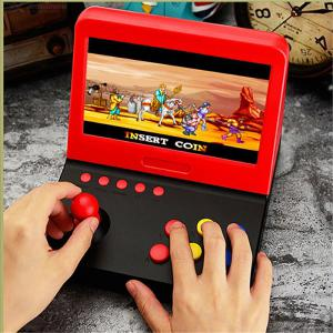 7 Inch Screen Gaming Console Retro Mini Handheld Arcade GBA Nostalgic Game Machine Built-In 3000 Classic Games - Red