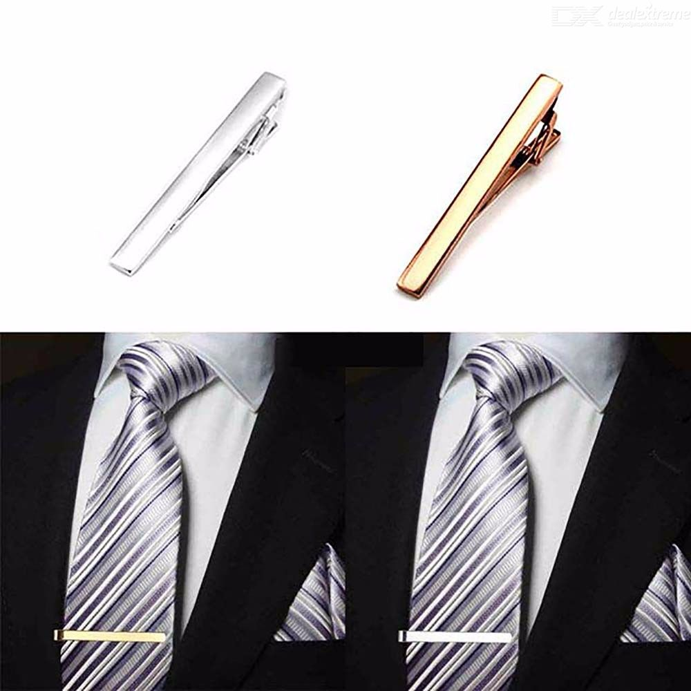Classic Business Metal Tie Pin, Colored Steel Tie Clip
