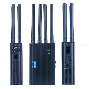 Potabal GSMDCS3G4GGPS L1 L2 L5 and 2.4G WiFi Handheld Mobile Phone Signal Jammer with 8 Antennas