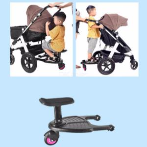 Sturdy Stroller Board Sit-and-Stand Wheeled Rider Board For Multiple Children