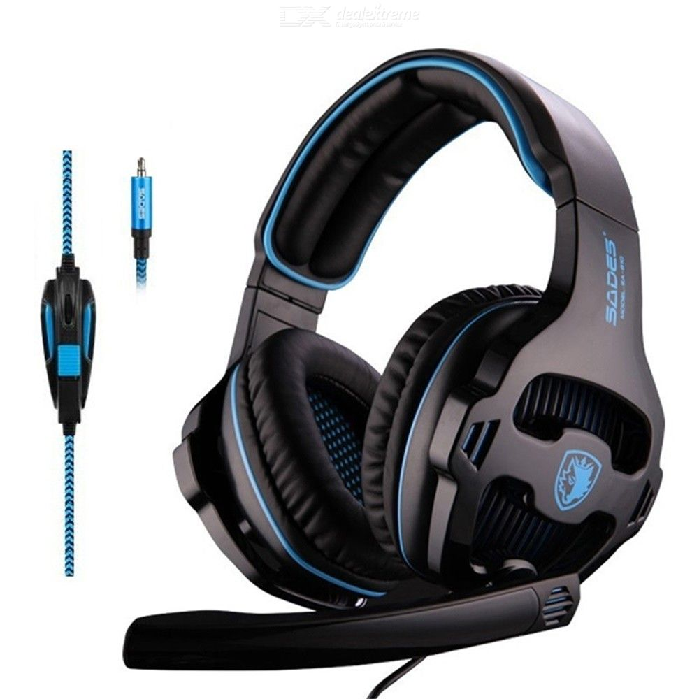 Sades SA 810 Over Ear Gaming Headsets Stereo Bass 3.5mm Gaming Headphone With Noise Isolation Mic For PS4 Xbox One PC Mac