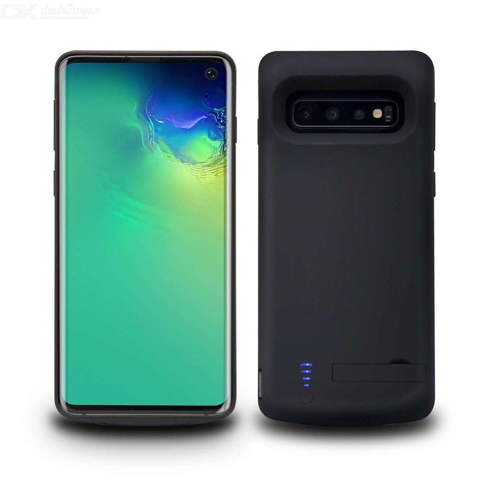 portable protective charging case, 5000mah external battery power charger case with kickstand for samsung s10e