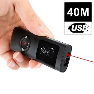 Mini Handheld 40M Smart Digital Laser Rangefinder Portable USB Charging Distance Measuring Meter