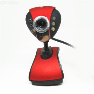 Classic 1080P Live Streaming Computer Web Camera With Stereo Microphone For Desktop Laptop Rotatable Webcam - Red