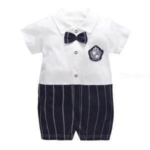 Baby Boy Gentleman Rompers Formal Christening Party Wedding Outfits Jumpsuits