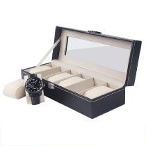 High-End-6-Slots-PU-Leather-Clear-Lid-Watch-Display-Box-Storage-Case-Organizer-For-Men-And-Women-Gift
